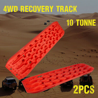 New Pair Recovery Tracks Sand Mud Snow Grass 4WD 4x4 ATV Tyre Accessory Offroad