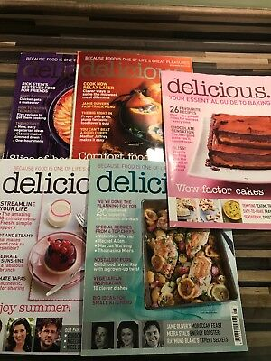 Delicious Recipe Magazines x 4 All Dated 2010 Cooking Food