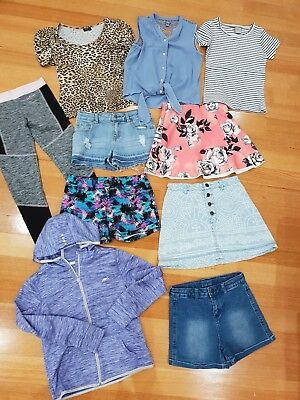 GIRL'S 10pce BULK LOT - SUMMER CLOTHES - SIZE 10 / Great Condition