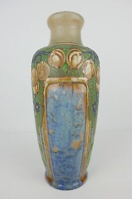 Grand Vase Art Nouveau En Grès Signé Mougin Nancy French Pottery 19Th Century