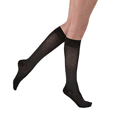 JOBST UltraSheer Diamond Pattern 20-30 mmHg Knee High Compression Stockings,