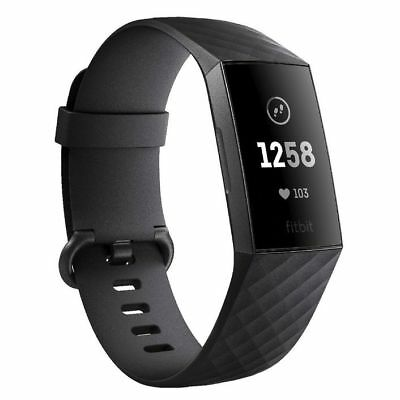 Fitbit Charge 3 Graphite/Black Aluminium Smart Fitness Watch *BRAND NEW!*