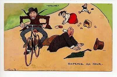 """""""Cycling"""" - Sixpence an hour by Tom Browne"""