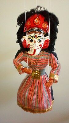 Nepal 2 sided folk art marionette 12 inches