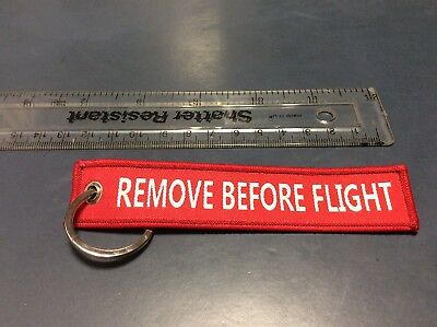 Remove Before Flight keyring Luggage Tag Brand New - UK SELLER FAST&FREE