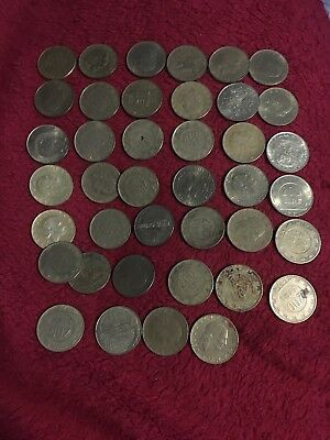 OLD ITALY COIN LOT - 200 LIRE - Older Mixed Dates - 40 Coins