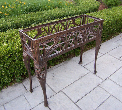 Rectangular Planter Butterfly Antique Bronze Metal Plant Stand Indoor Outdoor