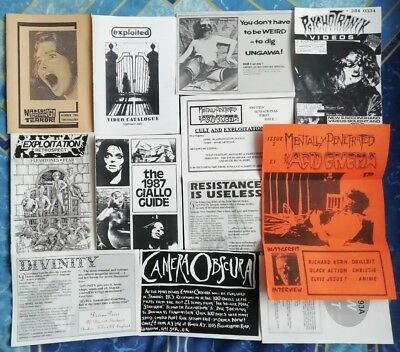 Horror Fanzines Collection Giallo Exploitation Nasties Zombies Gore etc