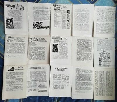European Trash Cinema Fanzines Collection Rare Horror Nasties Gore etc