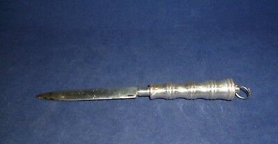 Vintage Silver Plate Letter Opener with Suspension Ring