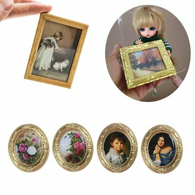 Toy Mini Wall Painting 1:12 Dollhouse Decor Doll Accessories Miniature Framed