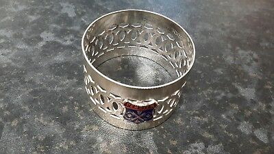 Silver plated crested Napkin ring Penrith