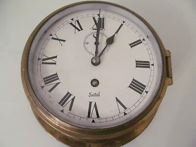 Sestrel ships clock with key, brass antique, Vintage, working order