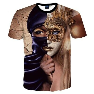 New Black T-Shirt Men/Women 3D Trip Beautiful Sexy Full Print Summer Psychedelic