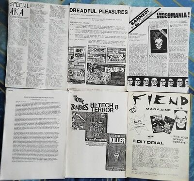 Rare Horror Fanzines Post Apocalyptic Nasties Zombies etc