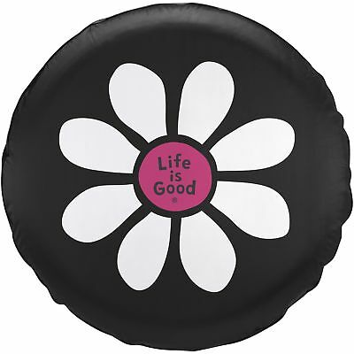 Life is Good. Tire Cover Daisy LiG - Night Black (32)