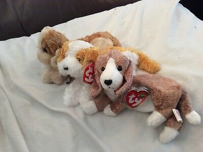 "TY Beanie Babies  SNIFFER, BANJO and DARLING 8"" (20cm) retired"