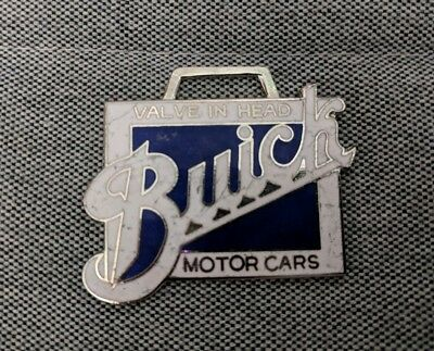 Buick Motor Cars Valve In Head Early antique auto Watch Fob enamel metal ad