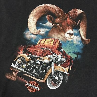 Men's Harley Davidson Las Vegas Black T-Shirt 2XL XXL Ram Graphic Tee Shield