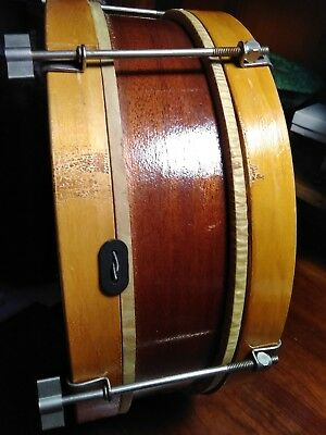antique 1920s snare drum with lugs.. wood is beautiful ..marked Christmas 1928