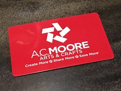 A.C. MOORE $25 Gift Card * Arts & Crafts Valentine's Easter Birthday Party FUN!