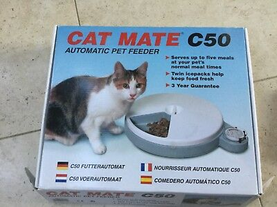 Cat Mate C50 Automatic Cat Feeder Upto 5 Meals over 4 Days.