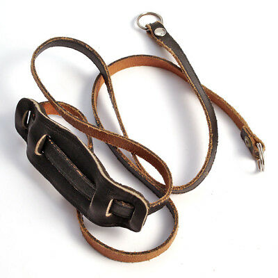 alter Leder-Kamera-Riemen schwarz * Gurt * vintage leather carrying strap 93cm