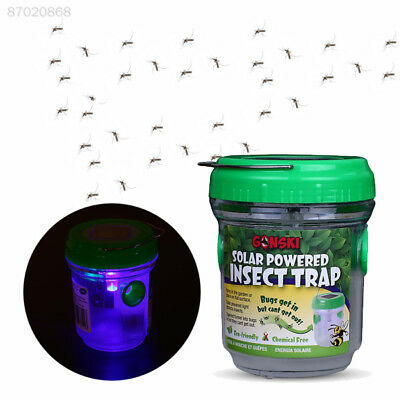 05CB Solar Mosquito Killer Repellent Insect Pest Bug Trap Zapper Handle Outdoor