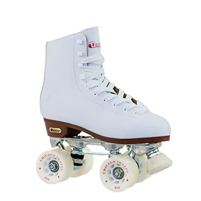 Chicago Women's Leather Lined Rink Roller Skate Size 9, White