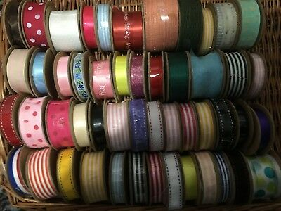 Clearance 50 New Craft Reels Quality Woven Edge Ribbons x 3mts each, 99p Start