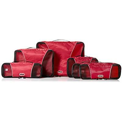 EBags Packing Organizers Cubes For Travel - 6pc Value Set (Raspberry)