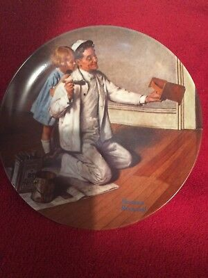 Knowles The Painter Norman Rockwell Heritage Collection #7 China Plate