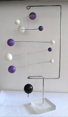 Vintage 60s 70s Mid Century Modern Kinetic Table top Modernist Mobile Sculpture