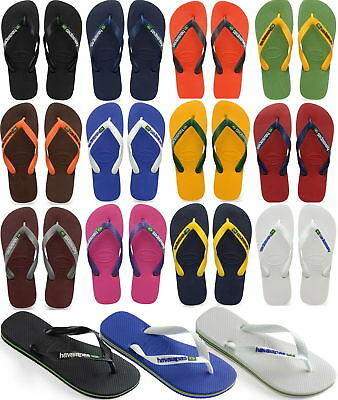 New Original Havaianas Brazil Logo Flip Flops Beach Sandals All Sizes Colors