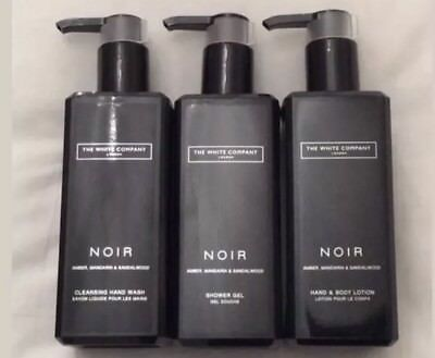 The White Company Noir Cleansing Hand Wash, Hand & Body Lotion And Shower Gel