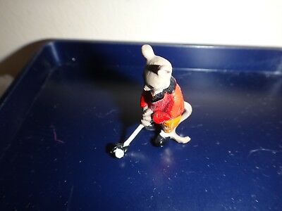 Vintage Miniature Lead Mouse Figure Playing Golf