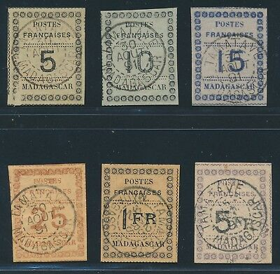 MADAGASCAR 1891, Mi. 8-13 used, rare set!! Good condition! Mi. 1900,--!!!|A16795