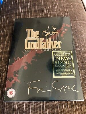 The Godfather Trilogy - The Coppola Restoration (DVD 5-Disc Set, Box-Set)