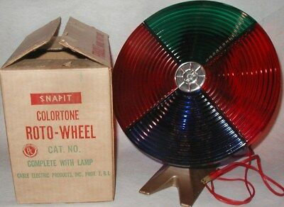 Vintage Snapit Colortone Color Wheel Christmas Tree Light In Box