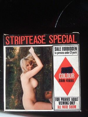 Glamour Vintage  Erotic-  striptease special one film 8mm colour -