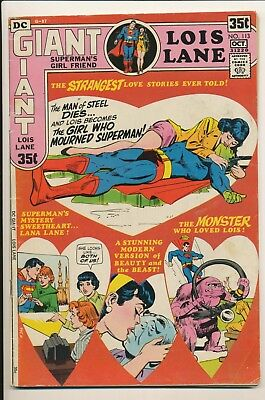 Superman's Girl Friend Lois Lane Giant G-87 #113 Oct  1971 DC Rose Thorn GA
