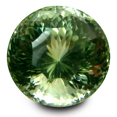 13.85Cts Glittering Natural Green Amethyst (prasiolite)Round Cut Loose Gem VIDEO
