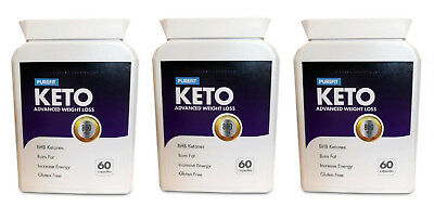PUREFIT KETO ADVANCED WEIGHT LOSS 3X (60 Capsules) FREE SHIPPING WORLDWIDE