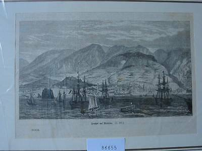 86655-Portugal-Portuguesa-Funchal-Madeira-T Holzstich-Wood engraving