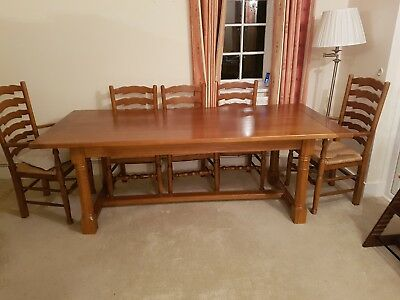 Bespoke Handmade Solid Oak Refectory Dining Table with 8 chairs(optional)