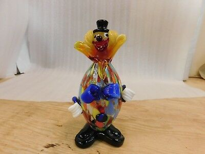 Murano Italian Art Glass Unsigned Fratelli Pitau Art Glass Clown