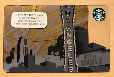 NEW STARBUCKS LOS ANGELES 2014 GIFT CARD DESTINATION CARD Limited Collectible
