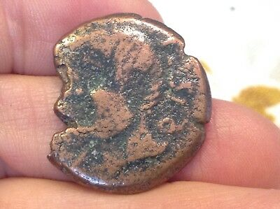 Rare Ancient Metal Detector Find- Pre-Roman Iberian large coin date unknown S4