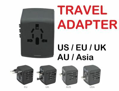 Travel Adapter International Universal Power All-in-one USB Charger US EU UK AU