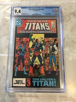 Tales of the Teen Titans #44 (Jul 1984, DC) Cgc 9.4- White Pages- No Reserve!